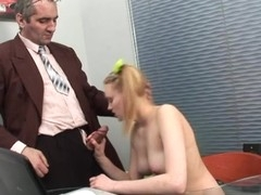 Wild sweetheart gets ejaculation in her gazoo from horny teacher